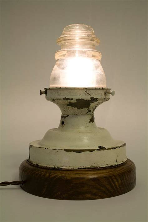 vintage telephone insulator used as glass globe for