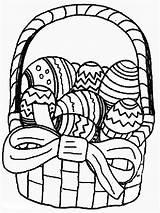 Easter Coloring Basket Printable sketch template