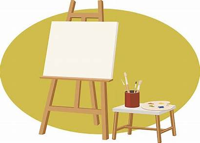 Canvas Blank Clip Vector Stand Illustrations Cartoons