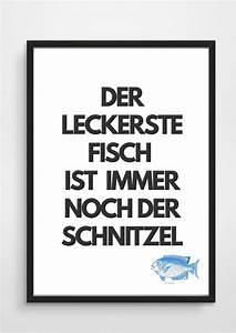 Sprüche Für Die Küche : digitaldruck poster typo print schnitzel geschenk a3 ~ Watch28wear.com Haus und Dekorationen