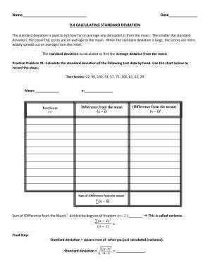 32 Variance And Standard Deviation Worksheet - Worksheet