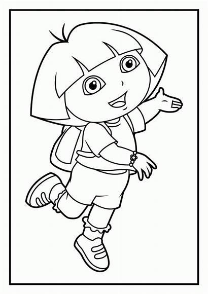 Coloring Dora Diego Explorer Printable Pdf Friends