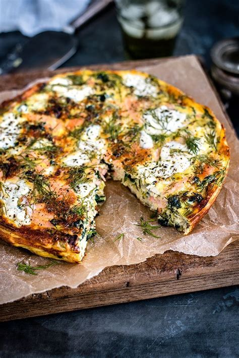 low cottage cheese recipes cottage cheese kale and smoked salmon frittata recipe