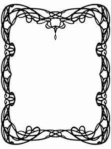 Art Nouveau Border - Cliparts.co