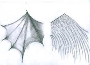 Devil and Angel Wings Drawings