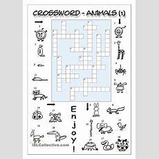 Crossword  Animals 1 (easy)  English Language, Esl, Efl, Learn English, Vocabulary And Grammar