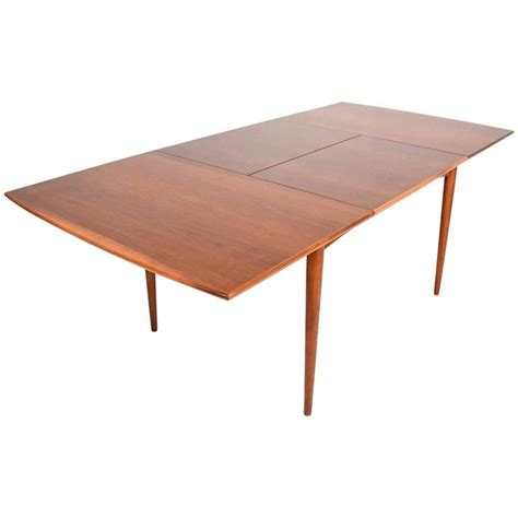 table with built in l mid century modern walnut dining table with built in