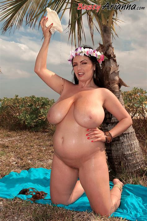 Busty Hula Girl Arianna Gets Naked On The Tropical Beach Coed Cherry