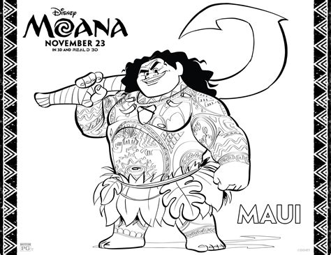 moana template moana coloring pages best coloring pages for