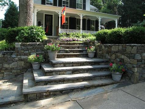 front yard steps stone staircases providing stunning focal points to modern houses and offices