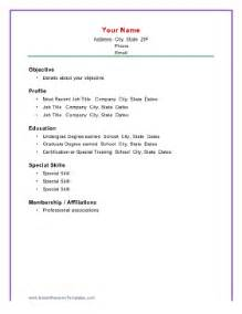 simple resume format for students doc basic chronological resume template