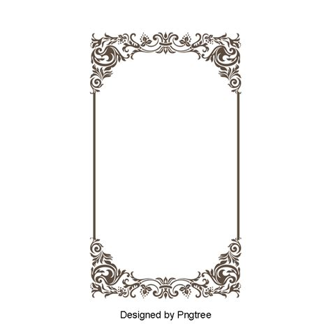wind pattern border frame lace vector classical