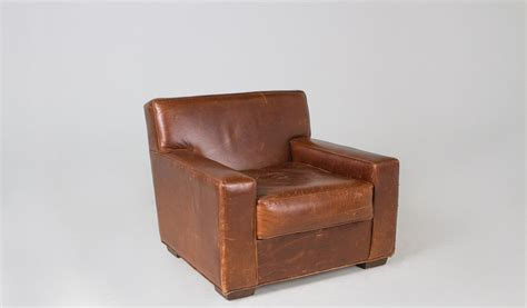 rustic brown leather club chair chr000369 arenson office