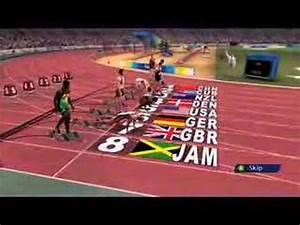 Beijing 2008 Olympic Games100M Gameplay From SEGA - YouTube
