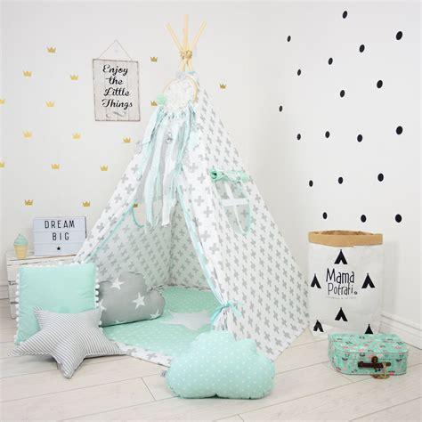Tipi Kinderzimmer Mint by Teepee Set Play Tent Tipi Kid Play Teepee Child