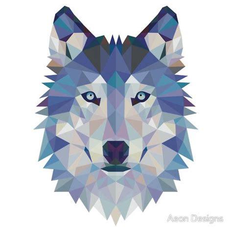 geometric wolf  aeon designs tattoos geometrisches