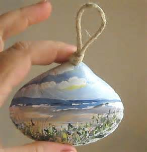 Hand Painted Sea Shell Ornament