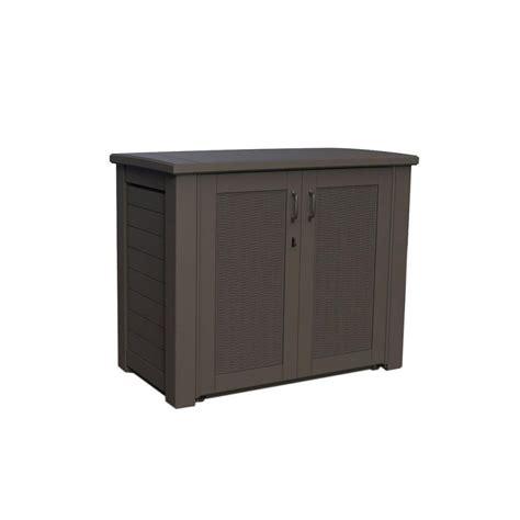 rubbermaid bridgeport resin patio cabinet 123 gal