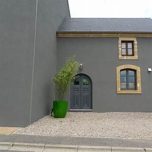 Ravalement gris fonce recherche google enduits for Couleur facade maison contemporaine 9 maison moderne grise