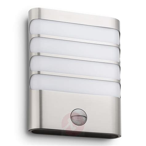philips raccoon led wall light stainless steel lights ie