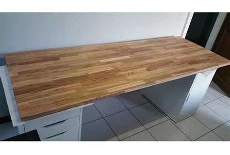 plateau de bureau création de bureau sur mesure en bois avec