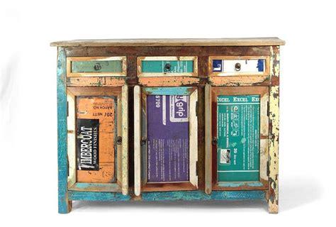 credenza colorata credenza colorata legno riciclato offerta on line prezzo