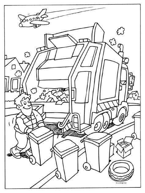 Kennis Kleurplaten by Kleurplaat Vuilniswagen Vuilnismannen Kleurplaten Nl