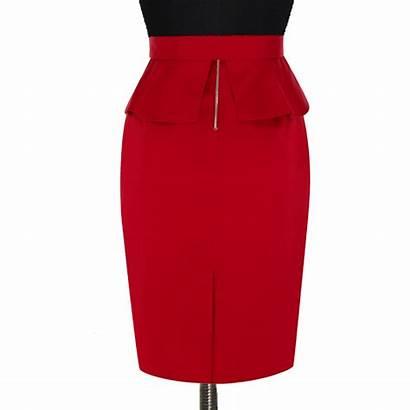 Skirt Pencil Peplum Pleated Custom Fabric Skirts
