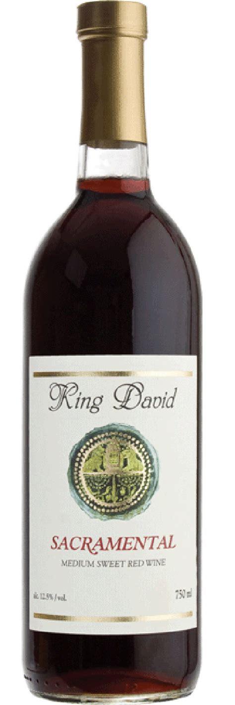 king david sacramental sweet red wine
