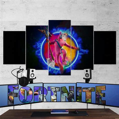 Fortnite 108 Rabbit Raider 5 Piece Canvas Wall Art Gaming