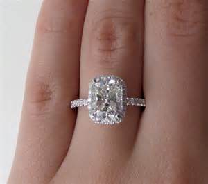 2 ct engagement ring 2 50 ct cushion cut vs solitaire engagement ring 14k white gold ebay