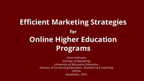 marketing strategy courses efficient marketing strategies for higher education