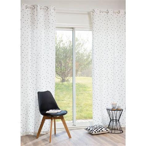maison du monde rideau motifs triangles en coton blanc