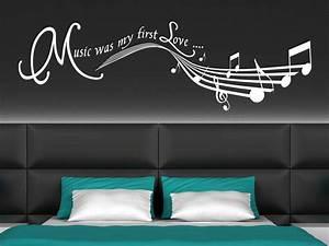 Wandtattoo Für Schlafzimmer : wandtattoo music was my first love wanddekor ~ Buech-reservation.com Haus und Dekorationen