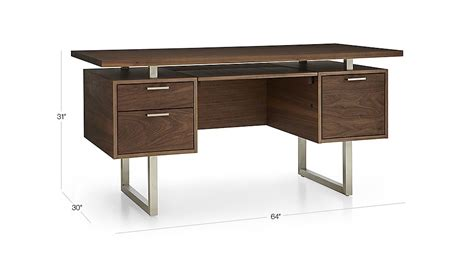 Clybourn Desk Crate And Barrel by Clybourn Walnut Executive Desk Crate And Barrel