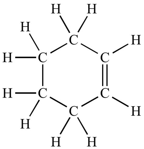 what is structural formula illustrated glossary of organic chemistry cyclohexene