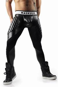 Menu0026#39;s workout tights Black Meggings by Maskulo