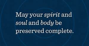 The Three Parts Of Man U2014spirit  Soul  And Body
