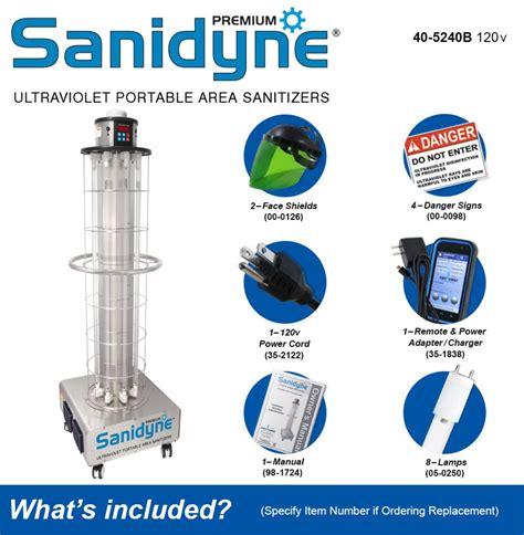 Sanidyne Premium Portable UV Air and Surface Sanitizer System