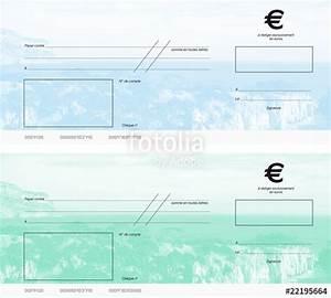 Mettre Un Cheque A La Banque : cheques vert et bleu photo libre de droits sur la banque d 39 images image 22195664 ~ Medecine-chirurgie-esthetiques.com Avis de Voitures