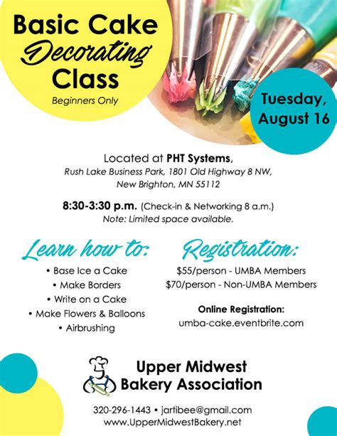 Cake Decorating Class Sign Up by Basic Cake Decorating Class Aug 2016