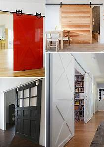 25 room divider ideas for when your open concept home for Barn door room separator