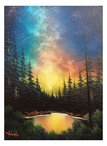 Ross Bob Paintings Landscape Painting Acrylic Abstract
