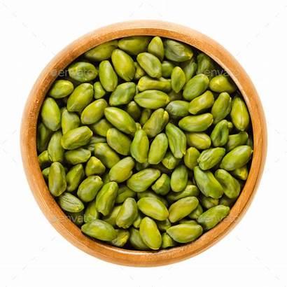 Bowl Seeds Pistachio Wooden Shelled Kernels Pistachios