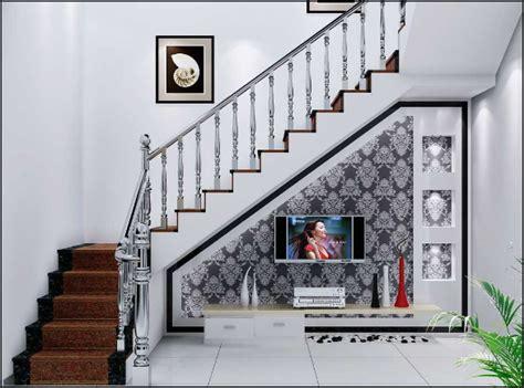 contoh desain membuat tangga rumah minimalis modern