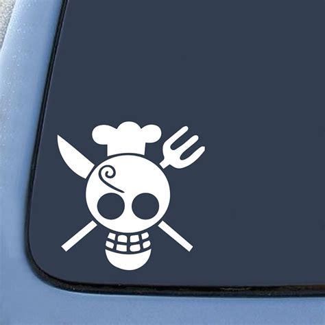 one sanji flag sticker decal notebook car laptop