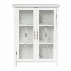 White Storage Cabinet With Doors - Decofurnish