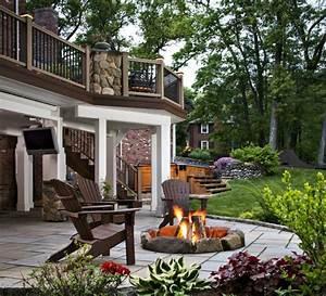 gartenkamin oder offene feuerstelle 30 ideen wie sie With feuerstelle garten mit balkon als wintergarten