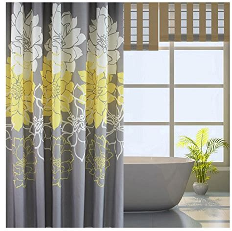 yellow and grey bathroom window curtains grey yellow white chevron shower curtain curtain