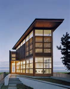 Photo Of Waterfront Home Designs Ideas by Cypress Clad Waterfront Residence With Exceptional Views